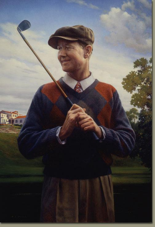 Byron Nelson Portrait By Michael J Deas