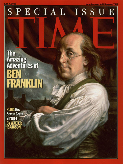 Ben Franklin, portrait for Time, by Michael J. Deas